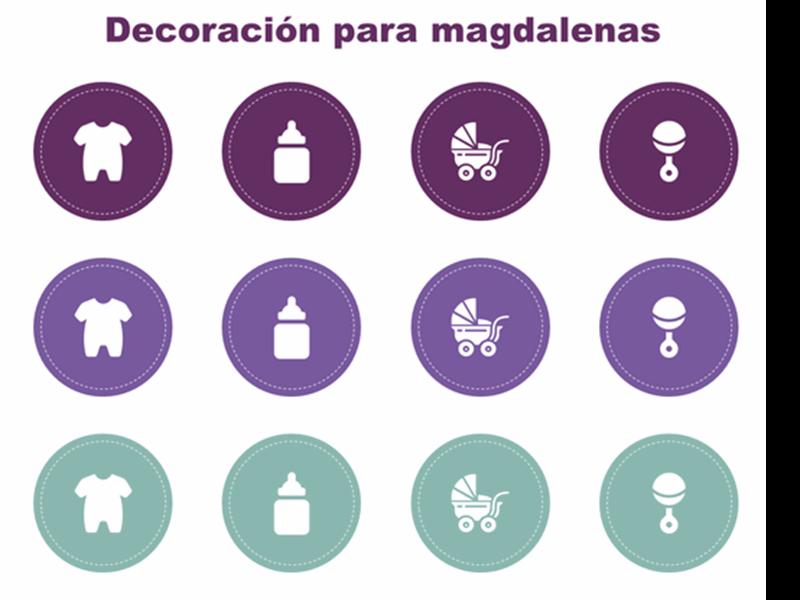 Decoraciones de magdalenas para celebraciones por nacimiento