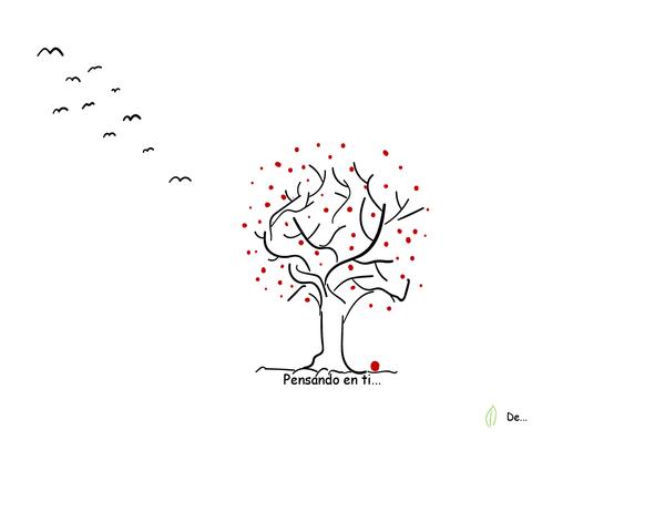 Tarjeta de apoyo con árbol