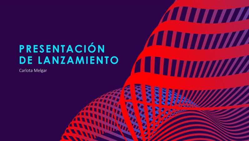 Plataforma de presentación futurista