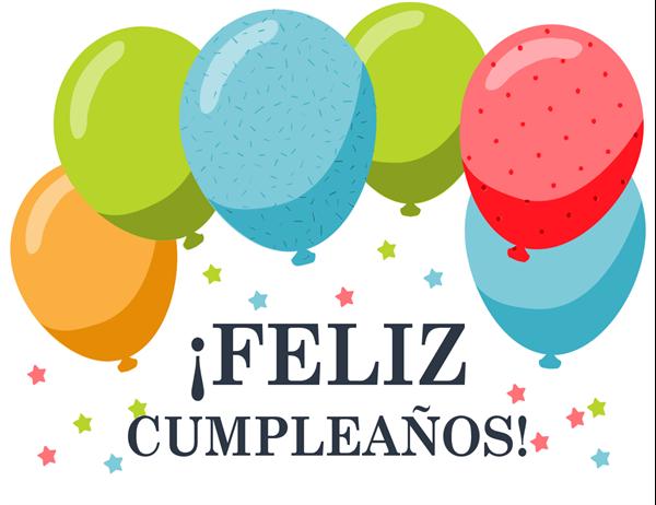 Felicitación de cumpleaños con globos