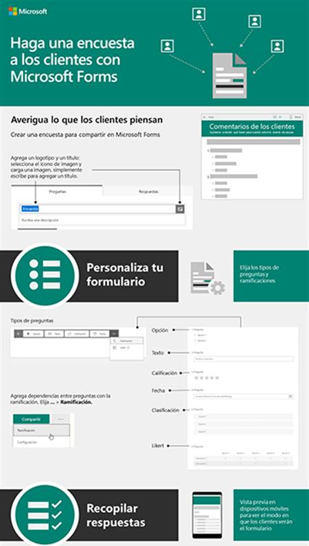 Haz una encuesta a los clientes con Microsoft Forms