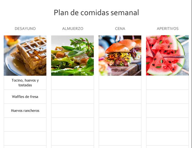 Planificador de comidas simple
