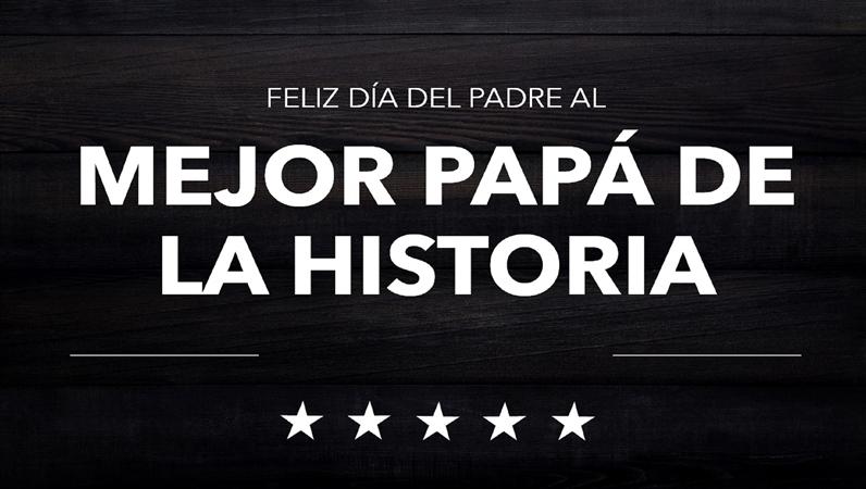 Cartas tipográficas del Día del Padre