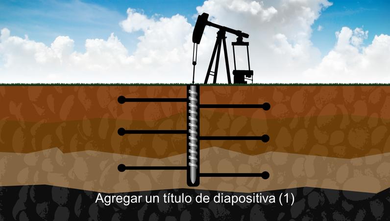 Gráfico de taladro bajo tierra