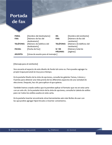 Portada de fax de flecha