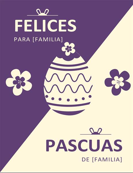 Tarjeta de Pascua púrpura