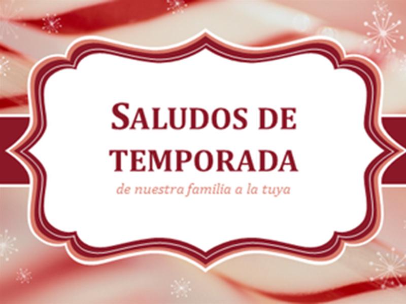 Tarjetas navideñas con bastón de caramelo espiralado (2 por página)