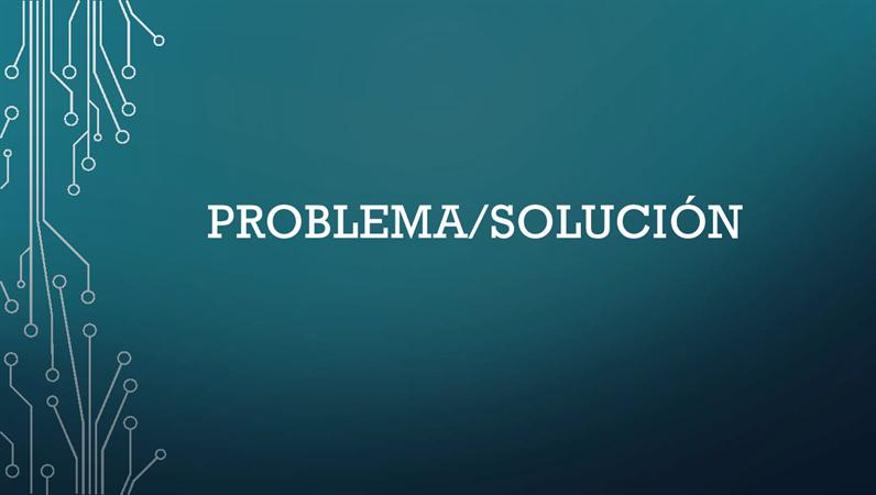 Ciclo de problema/solución