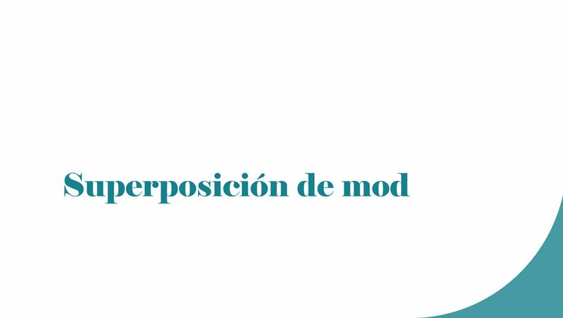 Superposición de mod