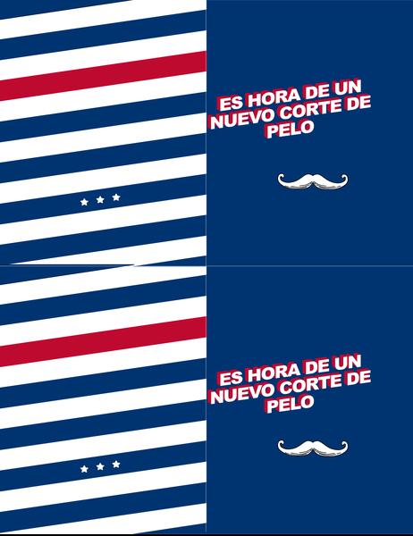 Tarjeta de felicitación para cualquier día con bigote extravagante
