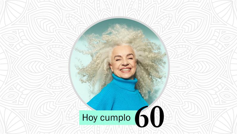 Plantilla con motivos florales para cumpleaños y celebración de la vida