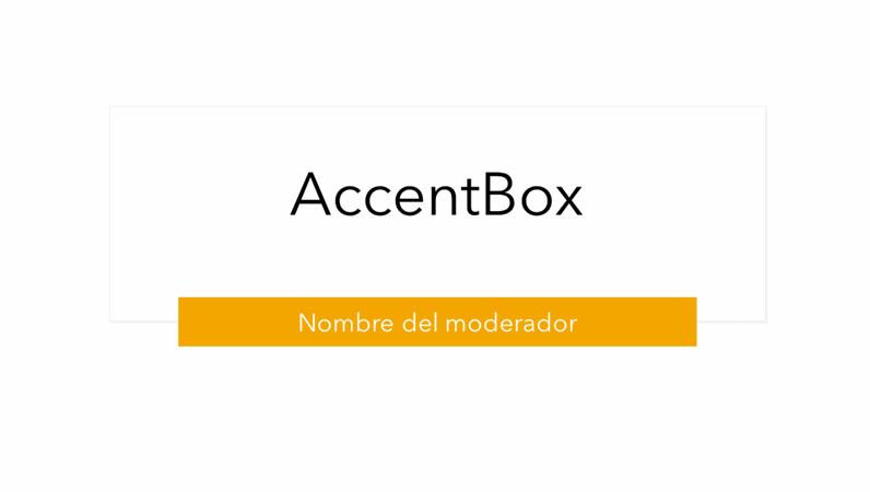Presentación de AccentBox