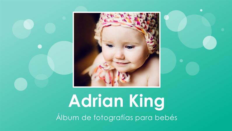 Álbum de fotos del primer añito del bebé