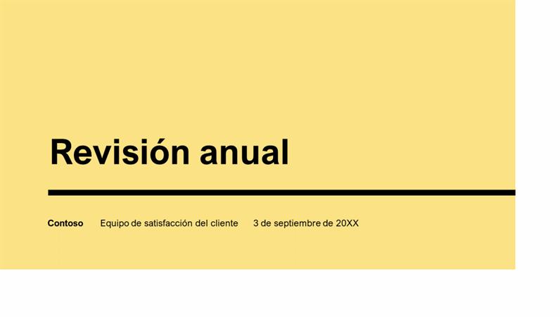 Presentación anual impactante