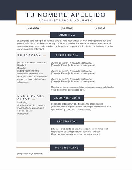 Currículum vítae minimalista
