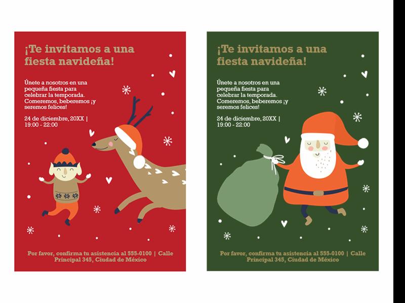 Invitaciones navideñas