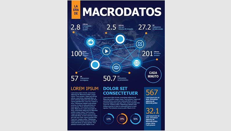 Póster infográfico sobre tecnología