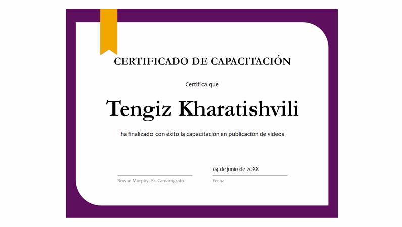 Certificado de aprendizaje