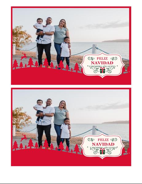 Tarjeta de Navidad con fotos favoritas