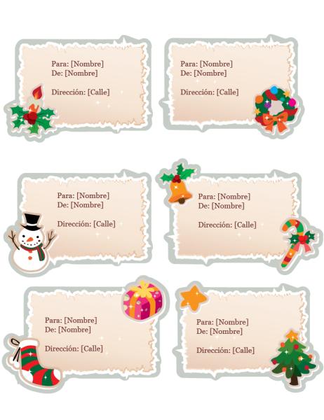 Etiquetas de regalo para navidad (diseño vintage)
