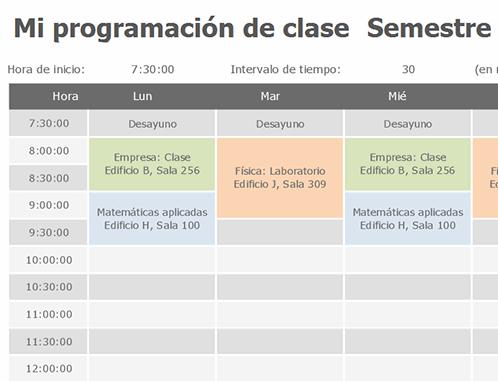 Programación de clase