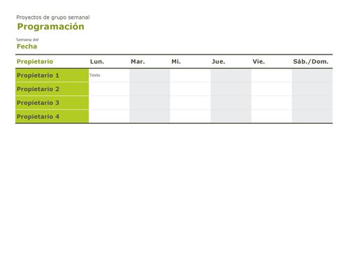 Calendario de grupo