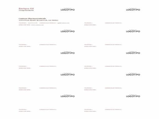 Tarjetas de presentación con logotipo (10 por página)