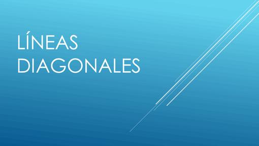 Líneas diagonales