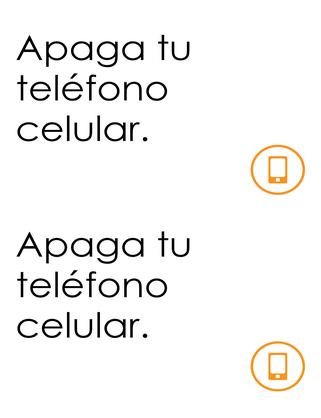 Recordatorio de teléfono celular apagado