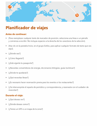 Planificador de viajes
