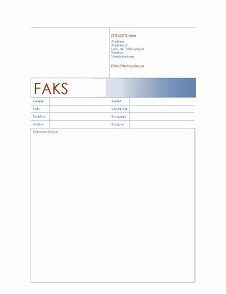 Faksi esileht (sinise teema)