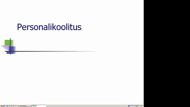 Personali koolituse esitlus