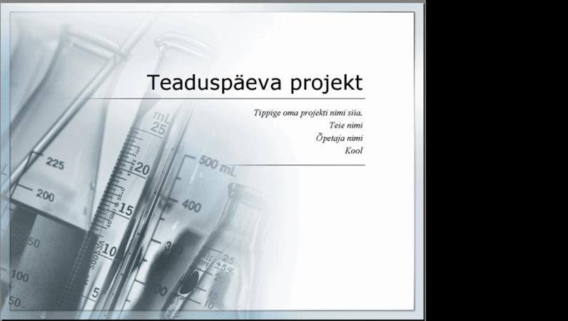 Teaduspäeva projekti esitlus