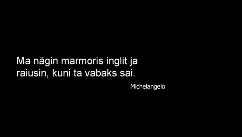 Michelangelo tsitaadiga slaid