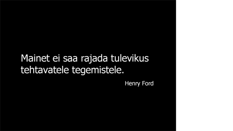 Henry Fordi tsitaadiga slaid