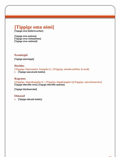 Aruanne (lihtne kujundus)