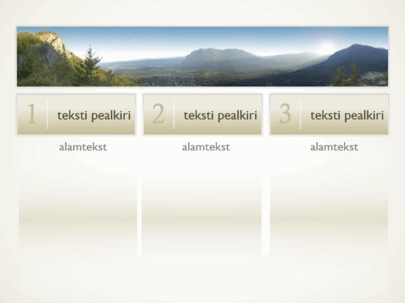 Kolme tekstiveeruga pilt