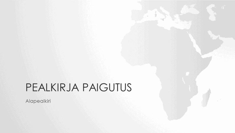 Maakaartide seeria, Aafrika mandriosa esitlus (laiekraan)