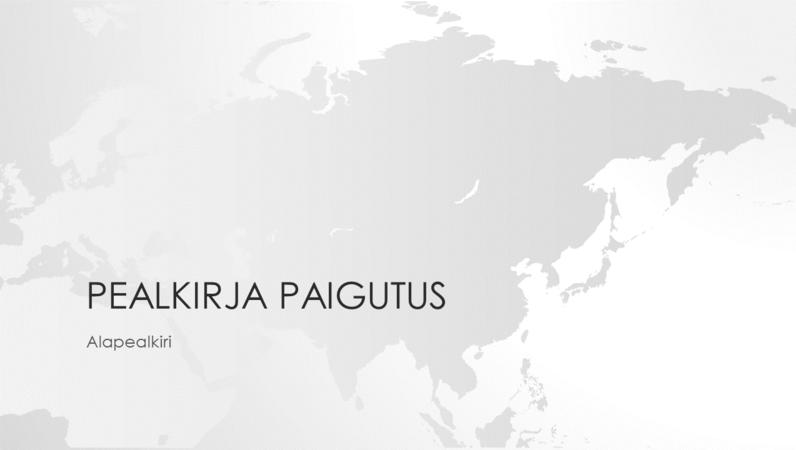 Maakaartide seeria, Aasia mandriosa esitlus (laiekraan)