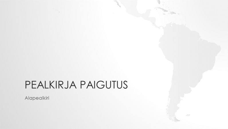 Maakaartide seeria, Lõuna-Ameerika mandriosa esitlus (laiekraan)