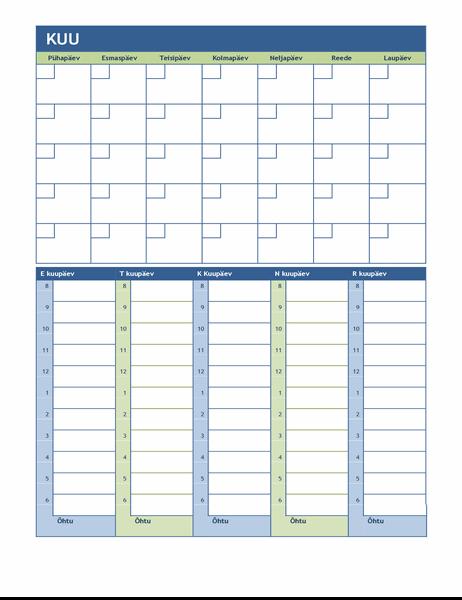 Kuu ja nädala plaanimiskalender