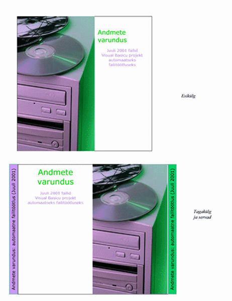 Andmete varundamise CD-de karpide vahelehed