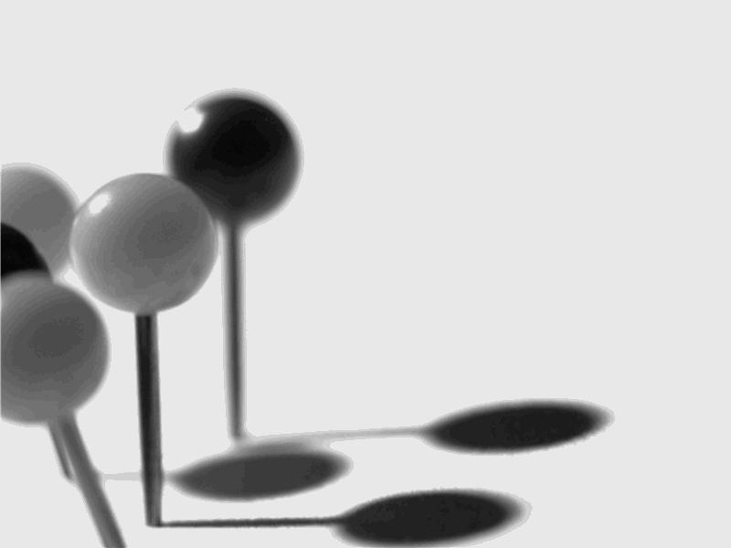 Mustade ja valgete nööpnõeltega kujundusmall