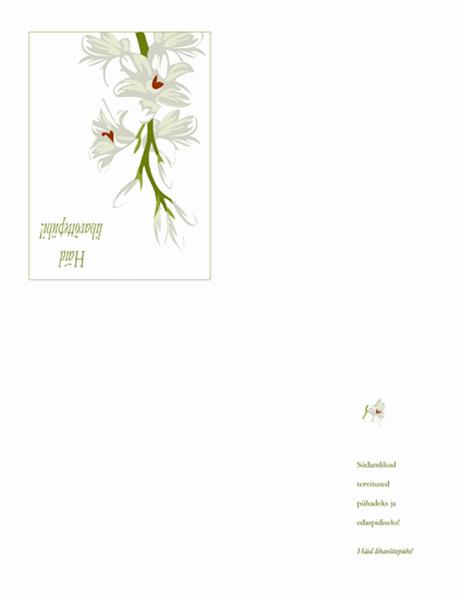 Lihavõttekaart (lilledega)