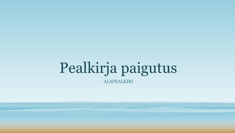 Ookeanipildiga esitlus (laiekraan)