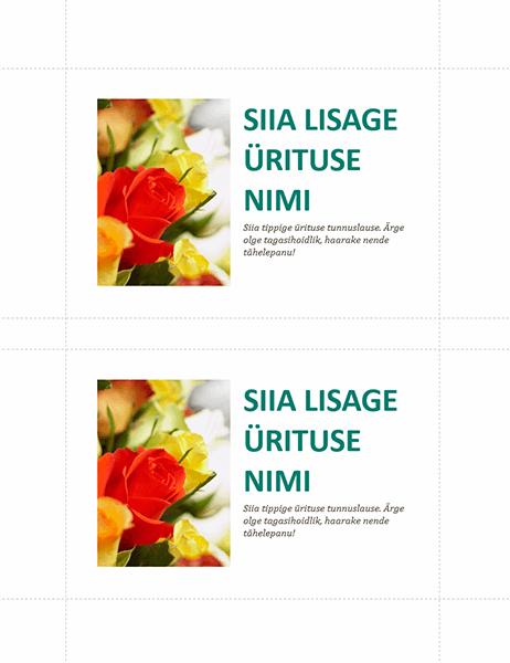 Ettevõttesündmuse postkaardid (2 tk lehel)