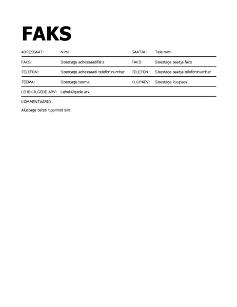 Paksus kirjas faksi tiitelleht