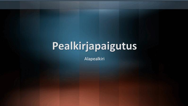 Vertikaalse sõnastiku kujundusslaidid