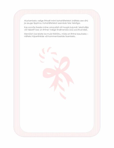 Pühade kirjaplank (kommipulga vesimärgiga)