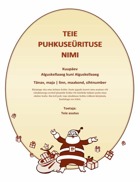 Jõuluteemaliste ürituse flaier